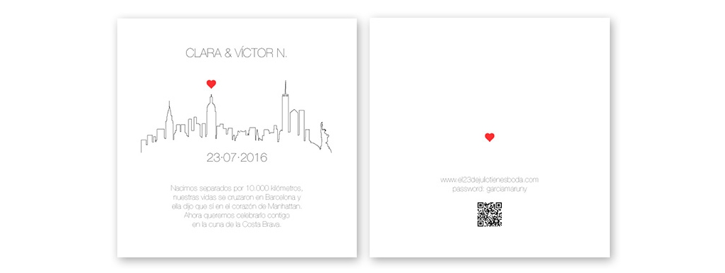 Wedding Invitation of Clara and Víctor