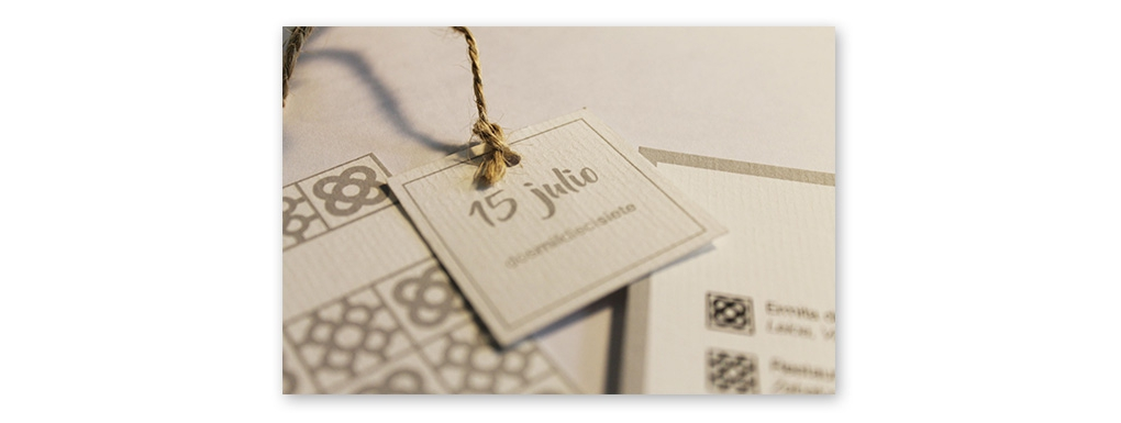 Wedding invitation of Santi and Elena